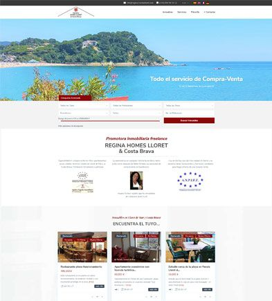 pagina web reginahomeslloret